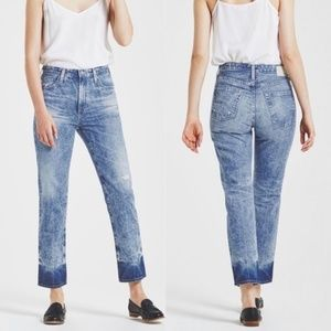 NEW AG Phoebe High Waisted 18 Years Dip Dye Jeans